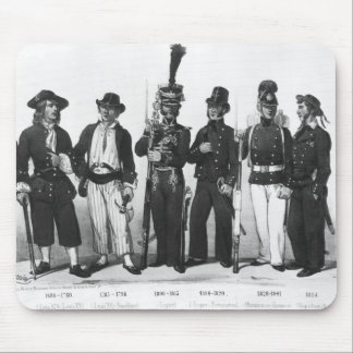 Costumes of French marines from 1680 to 1854 Mouse Mat