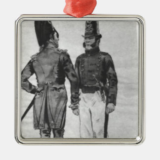 Costumes of French Marines from 1804 to 1814 Silver-Colored Square Decoration
