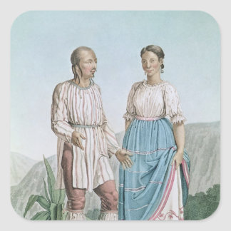 Costumes of the Indians of Michouacan Square Sticker