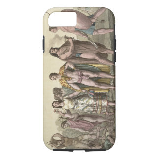 Costumes of the Mexicans (colour engraving) iPhone 8/7 Case