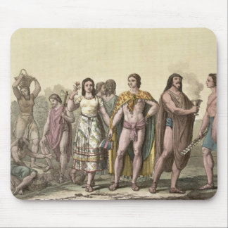 Costumes of the Mexicans (colour engraving) Mouse Pad