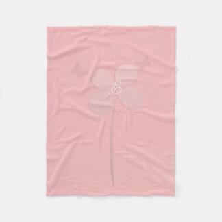 Cosy All Pink Flower Butterflies Monogram Blanket
