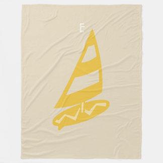 Cosy Beige Yellow Wind Surf Blanket