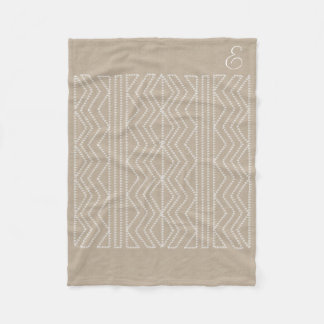 Cosy Chic Cream Linen Beige Arrows  Blanket