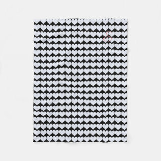Cosy Cute Black White Hearts Pattern Blanket