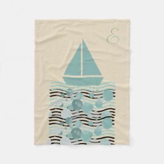 Cosy Cute Sailor Boat Blanket