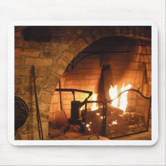 Cosy Fireplace Mouse Mat