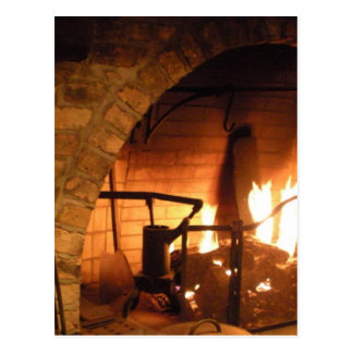 Cosy Fireplace Postcard