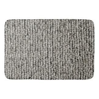 Cosy Fluffy Grey Textured Bath Mat