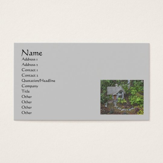 Cosy Garden Cottage Nature Art Business Card