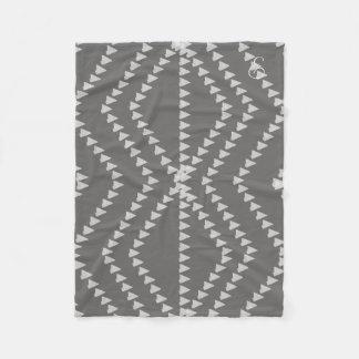 Cosy Grey Arrows Pattern Monogrammed Blanket