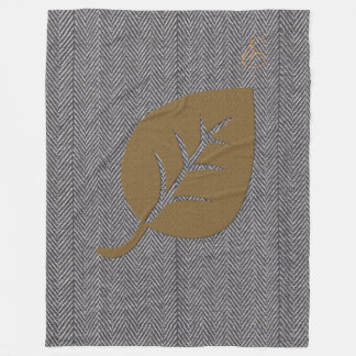 Cosy Herringbone Pattern Giant Leaf Blanket