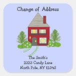 Cosy Home Change of Address Square Sticker