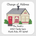 Cosy Home Change of Address Square Stickers