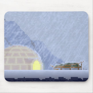 Cosy in the Storm Pixel Art Mouse Mad Mouse Pad