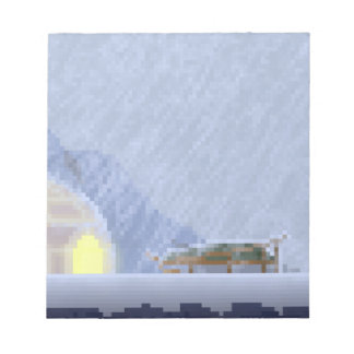 Cosy in the Storm Pixel Art Notepad