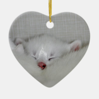Cosy Little Nosey Ceramic Heart Decoration