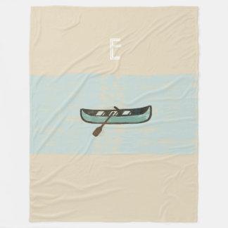 Cosy  Mint Beige Fisherman Fishing Blanket