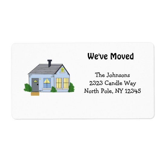 Cosy New Home Address Shipping Label