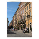 Cosy Old Town in Warsaw Greeting Cards