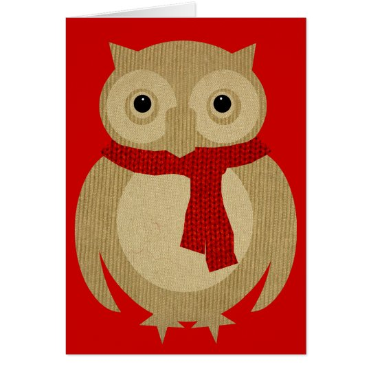 Cosy Owl Christmas Card