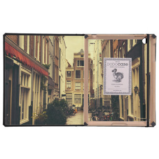 Cosy Street In Amsterdam, Retro Vintage Colors Covers For iPad