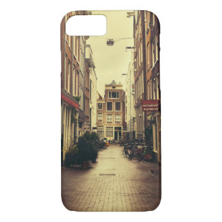 Cosy Street In Amsterdam, Retro Vintage Colors iPhone 7 Case