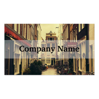 Cosy Street In Amsterdam, Retro Vintage Colors Pack Of Standard Business Cards