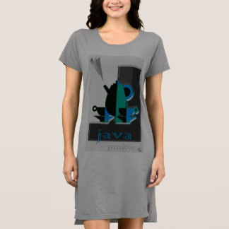 Cosy T-Shirt Dress made for Coffee Lovers