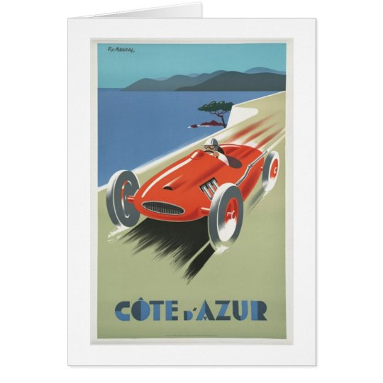 Cote d Azur Vintage Race Car Card