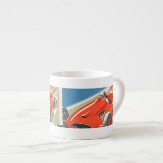 Cote d Azur Vintage Race Car 6 Oz Ceramic Espresso Cup