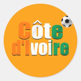 Côte d Ivoire logo football fans soccer ball gifts Stickers