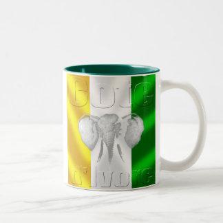 Cote d Ivore flag soccer football tees and gear Two-Tone Mug
