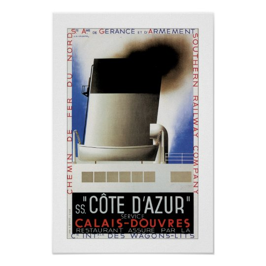 Cote D'Azur Channel Ferry Poster