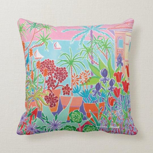 Côte d'Azur Garden cushion by Joanne Short