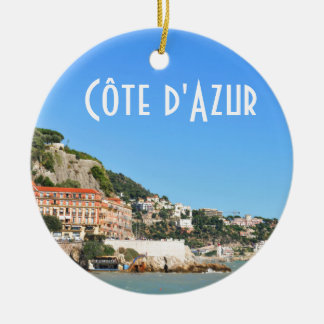Côte d'Azur in Nice, France Christmas Ornament