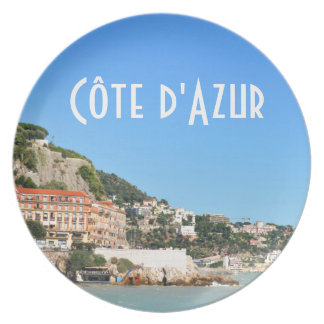 Côte d'Azur in Nice, France Plate