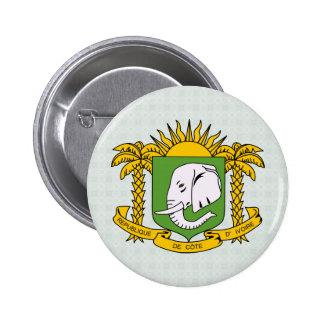 Cote Divoire Coat of Arms detail 6 Cm Round Badge