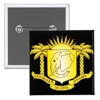 côte d'ivoire emblem 15 cm square badge
