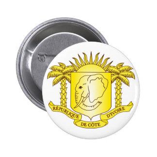 côte d'ivoire emblem 6 cm round badge