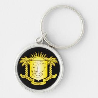 côte d'ivoire emblem keychain