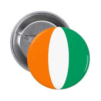 Cote d'Ivoire Fisheye Flag Button