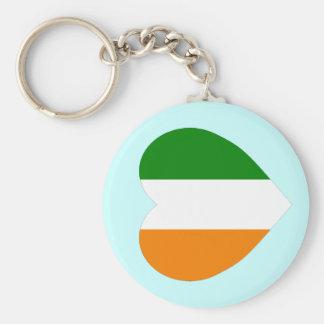 Cote D'Ivoire Flag Heart Keychains