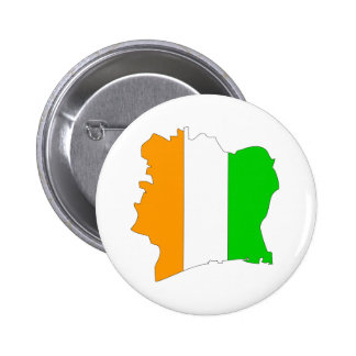 Cote Divoire Flag Map full size 6 Cm Round Badge