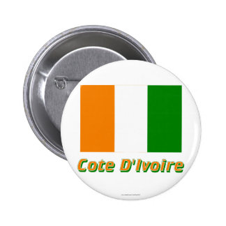 Cote D'Ivoire Flag with Name Buttons