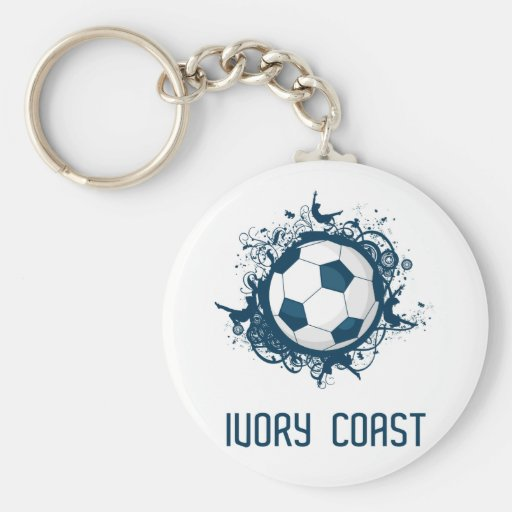 Côte d'Ivoire Football Key Chain