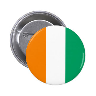 Cote d'Ivoire – Ivorian Flag 6 Cm Round Badge
