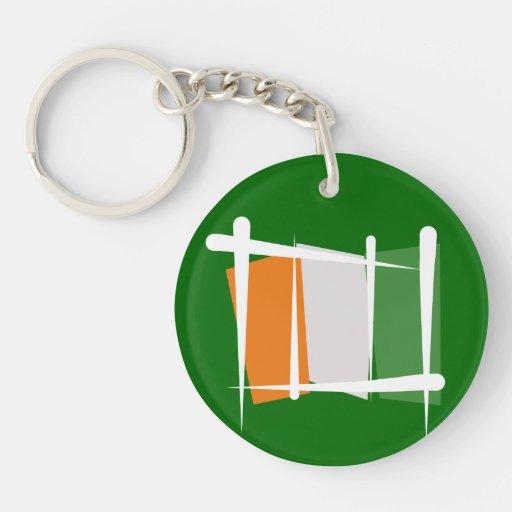 Cote d'Ivoire Ivory Coast Brush Flag Acrylic Key Chain