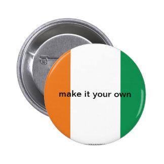 Cote d'Ivoire Ivory Coast flag button
