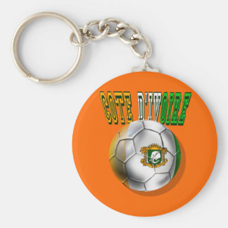 Cote divoire logo football fans gifts basic round button key ring